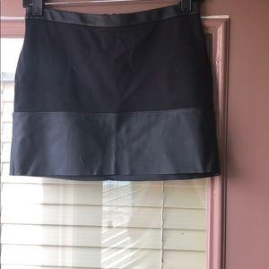 Express leather mini skirt